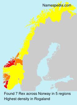 Familiennamen Rex - Norway