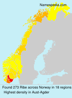 Surname Ribe in Norway