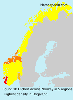 Surname Richert in Norway