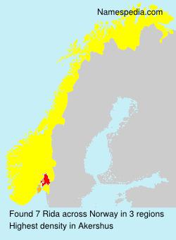 Familiennamen Rida - Norway