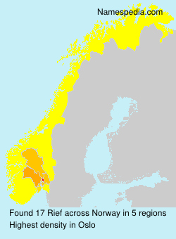Surname Rief in Norway