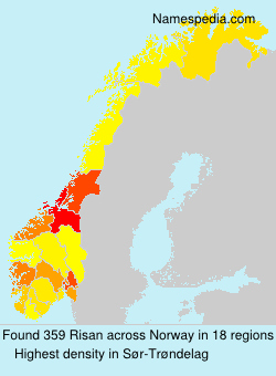Surname Risan in Norway