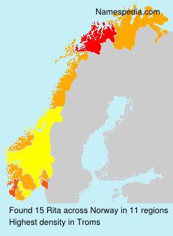 Surname Rita in Norway