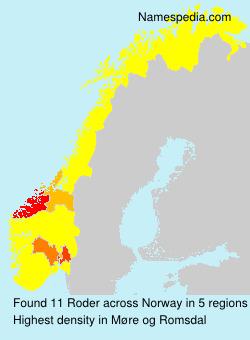 Surname Roder in Norway