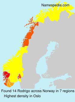 Surname Rodrigo in Norway