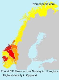 Surname Roen in Norway