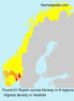 Surname Rojahn in Norway