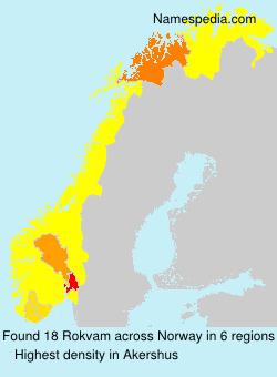 Familiennamen Rokvam - Norway