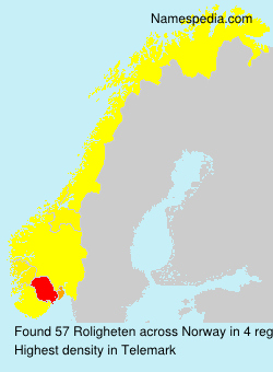Surname Roligheten in Norway