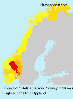 Surname Rolstad in Norway