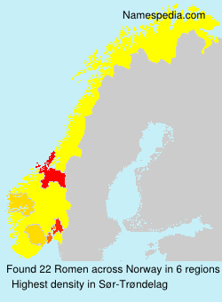 Surname Romen in Norway