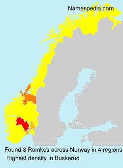 Familiennamen Romkes - Norway