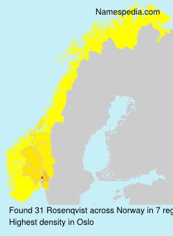 Surname Rosenqvist in Norway