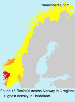 Surname Rosinski in Norway