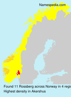 Surname Rossberg in Norway