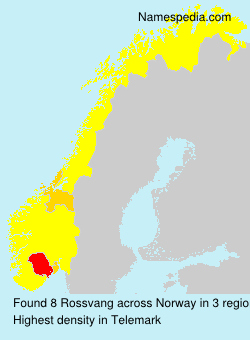 Surname Rossvang in Norway