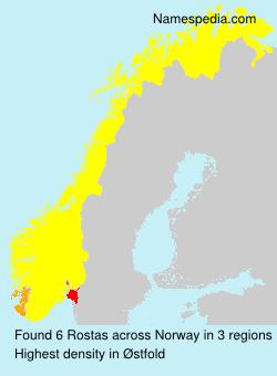 Surname Rostas in Norway