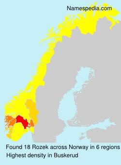 Familiennamen Rozek - Norway