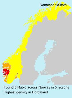 Surname Rubio in Norway