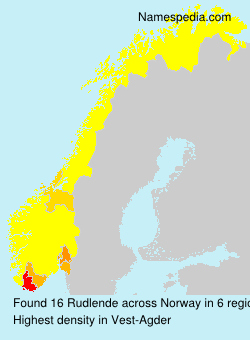 Surname Rudlende in Norway