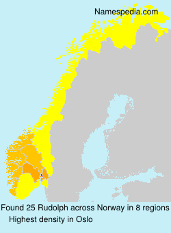 Surname Rudolph in Norway