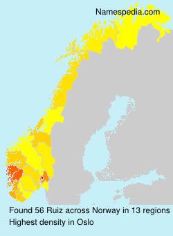 Surname Ruiz in Norway