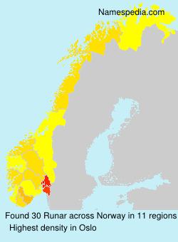 Surname Runar in Norway
