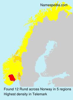 Surname Rund in Norway