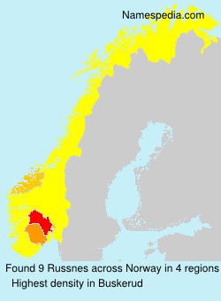 Surname Russnes in Norway