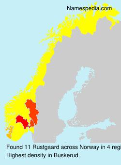 Familiennamen Rustgaard - Norway