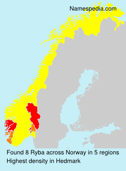 Surname Ryba in Norway