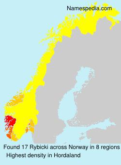 Surname Rybicki in Norway