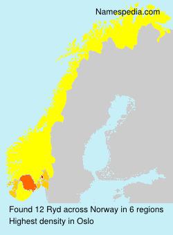 Familiennamen Ryd - Norway