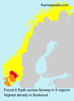 Surname Rydh in Norway