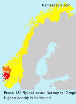 Surname Ryland in Norway