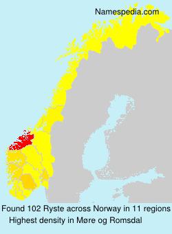 Familiennamen Ryste - Norway