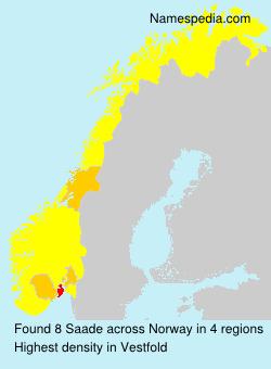Familiennamen Saade - Norway
