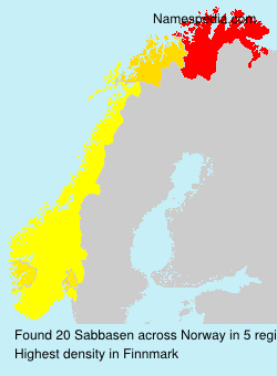 Surname Sabbasen in Norway