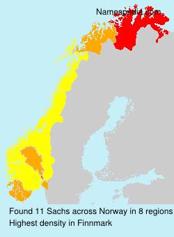 Familiennamen Sachs - Norway