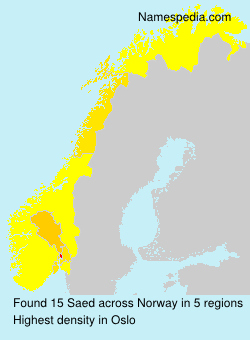 Surname Saed in Norway