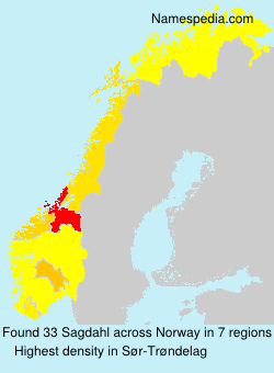 Surname Sagdahl in Norway