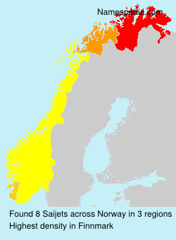 Surname Saijets in Norway
