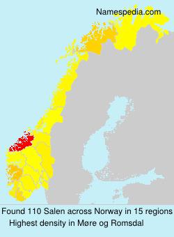 Surname Salen in Norway