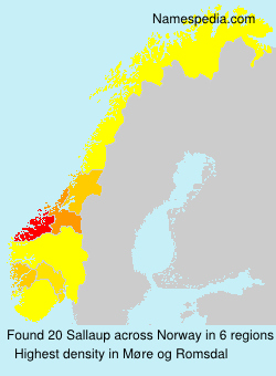 Surname Sallaup in Norway