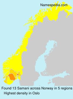 Surname Samani in Norway