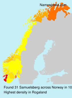 Surname Samuelsberg in Norway