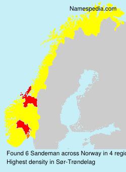 Surname Sandeman in Norway