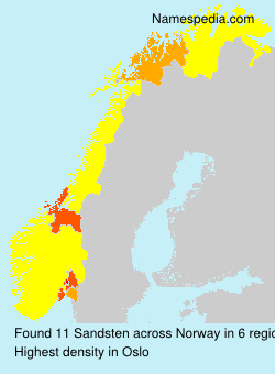 Surname Sandsten in Norway