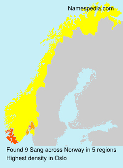 Surname Sang in Norway
