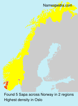 Familiennamen Sapa - Norway